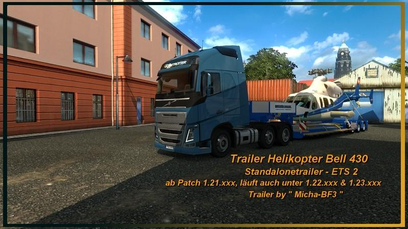 trailer bell 430 helicopter - Helicopter Mod