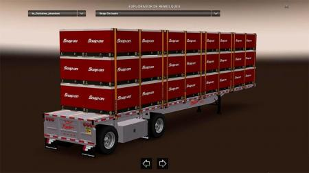 Fontaine Phantom Flatbed Trailers reworked by Solaris36