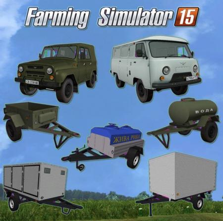 UAZs And Trailers For Cars V 1.0