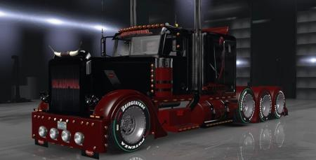 T-D-S Peterbilt 389 Deadpool Skin