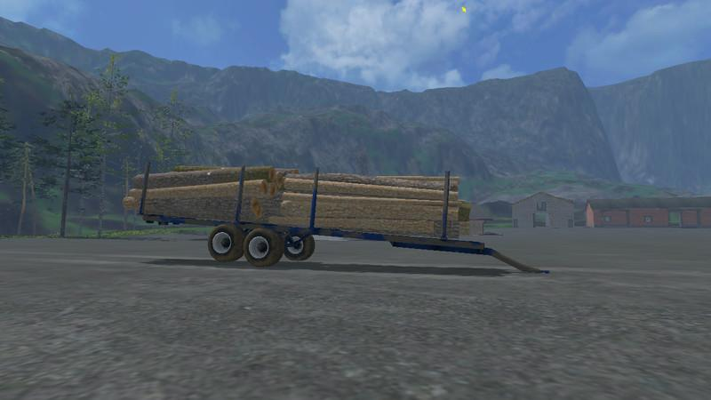Log Trailer with Autoload V 1 1 » GamesMods net - FS19, FS17