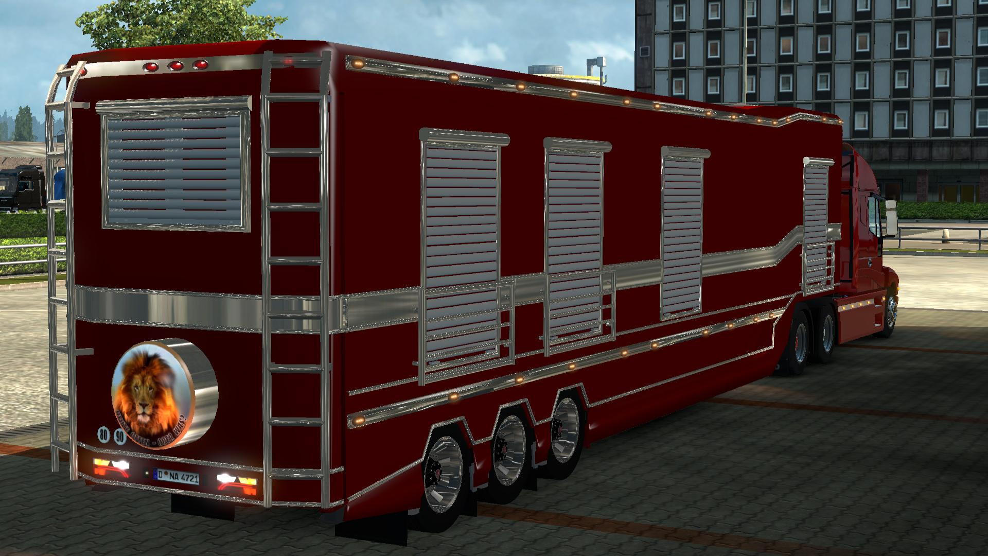 iveco strator v2 5 caravan trailer gamesmods     fs17 cnc fs15 ets 2 mods
