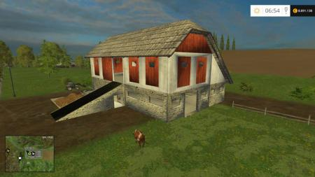STABLE WITH MANURE REMOVAL V0.8