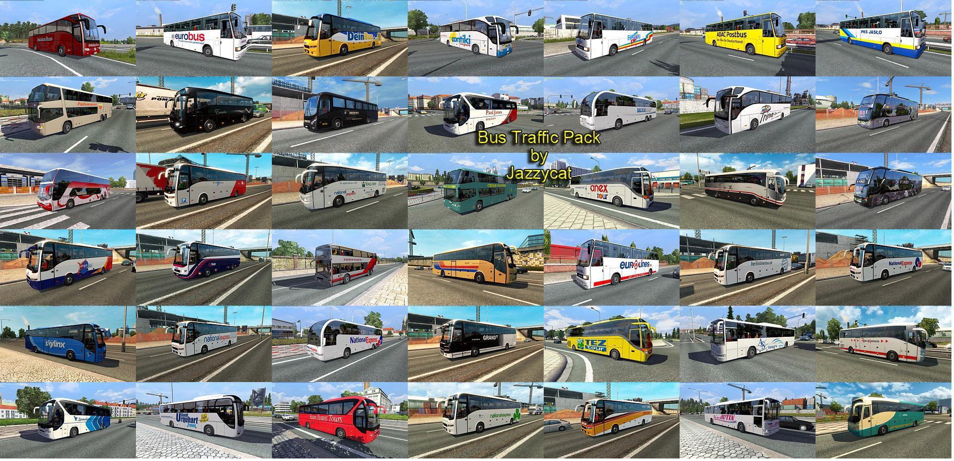 Bus Traffic Pack by Jazzycat v 1 3 2 » GamesMods net - FS19