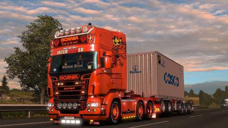 Scania R & Streamline (RJL) Orange Griffin Skin + Accessory