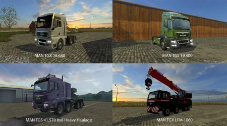 BIG MODS PACK V17 MAN TRUCKS PACK V1
