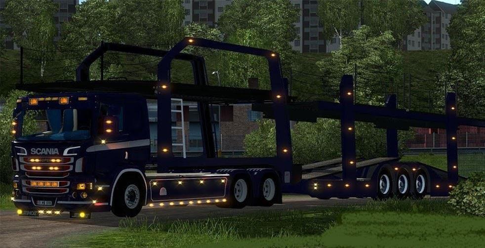 scania p400 car transporter fs17 cnc fs15 ets 2 mods. Black Bedroom Furniture Sets. Home Design Ideas