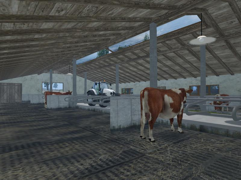 Model For Cows Cowshed V 2 0 187 Gamesmods Net Fs19 Fs17