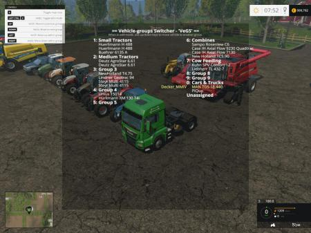 VEHICLE GROUPS SWITCHER - VEGS V2.2.X