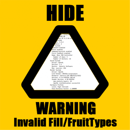HideWarningInvalidFillAndFruitType
