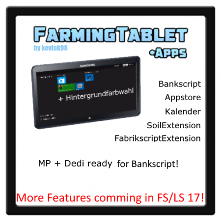 FarmingTablet V1.0 Final LS15 *4 new Apps*
