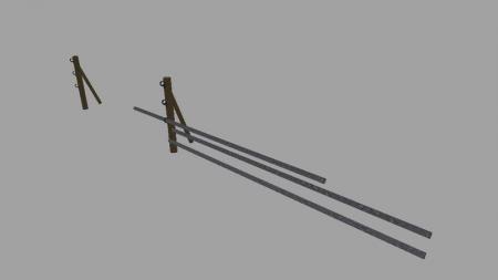 65458 Animated Weidetor With 3 Bars V21
