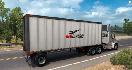 Red Classic box trailer
