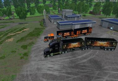GRAVE DIGGER TRUCK TRAILER VOLVO TRUCK TRAILER