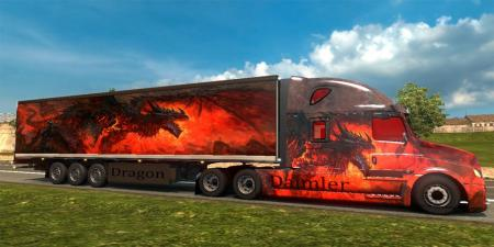 DAIMLER FREIGHTLINER INSPIRATION and trailer Dragon Skins pack