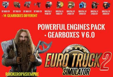 PACK POWERFUL ENGINES + GEARBOXES V6.0 1.25.X