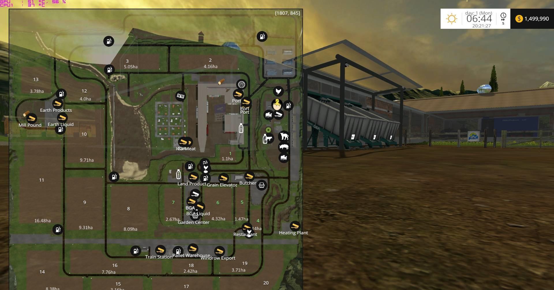 Canadian Rocky Map v 10 GamesModsnet FS17 CNC FS15 ETS 2 mods