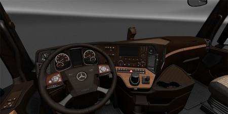Mercedes Actros MP4 LUX Wood Interior