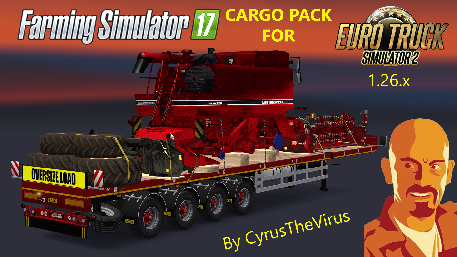 farming simulator 17 cargo pack v1 0 for euro truck. Black Bedroom Furniture Sets. Home Design Ideas
