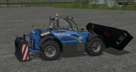 NEW HOLLAND LM 742 WITH REAR HYDRAULICS V1.17