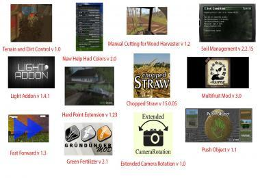 FS15 BIG MODS PACK V11 SCRIPTS PACK V2