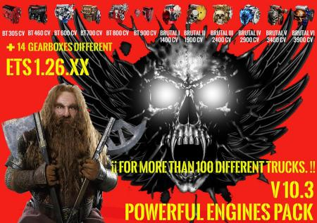 Pack Powerful Engines + Gearboxes v 10.3