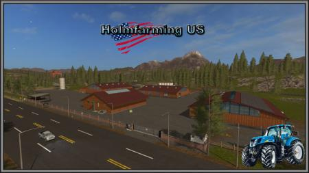Holmfarming US Map für LS17 v1.4