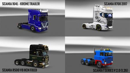 Pack 10.3 compt. Trucks with Powerful 10.3