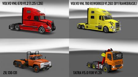 Pack 10.4 compt. Trucks with Powerful 10.3