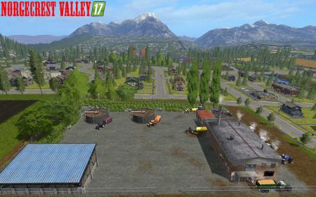 NorgeCrest Valley 17 v1.0 / CoppedStraw & animated animals
