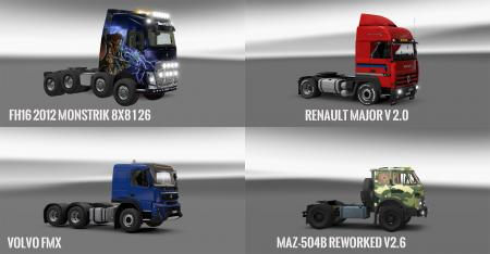 Pack 10.7 compt. Trucks with Powerful 10.4