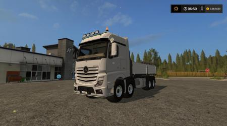 FS17 MERCEDES BENZ ACTROS TRANSPORT TRUCK V1.1
