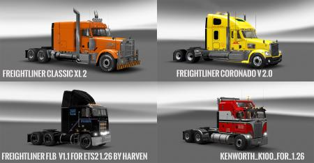 Pack 10.8 compt. Trucks with Powerful 10.4