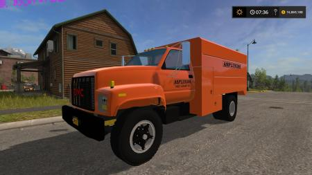 Gmc Asplundh Tree Truck V1 187 Gamesmods Net Fs19 Fs17
