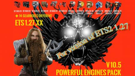 Pack Powerful engines + gearboxes V 10.5