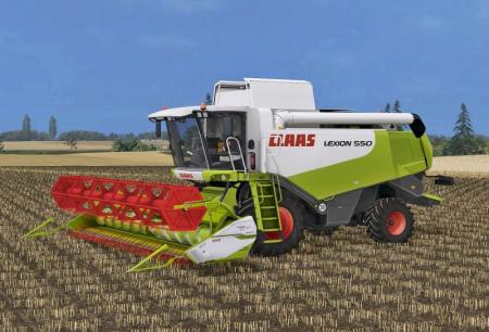 CLAAS LEXION 550 PACK MOD FOR FARMING SIMULATOR 17