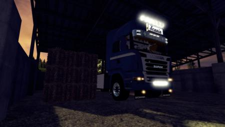 Scania R730 mit Planenaufbau im Krone-Skin V 1.1