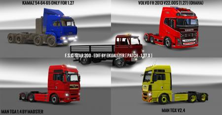 Pack 10.9 compt. Trucks with Powerful 10.5
