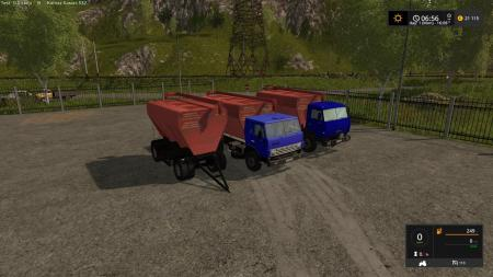 KAMAZ 43253 AND SZAP 8357 FS17 V1.0