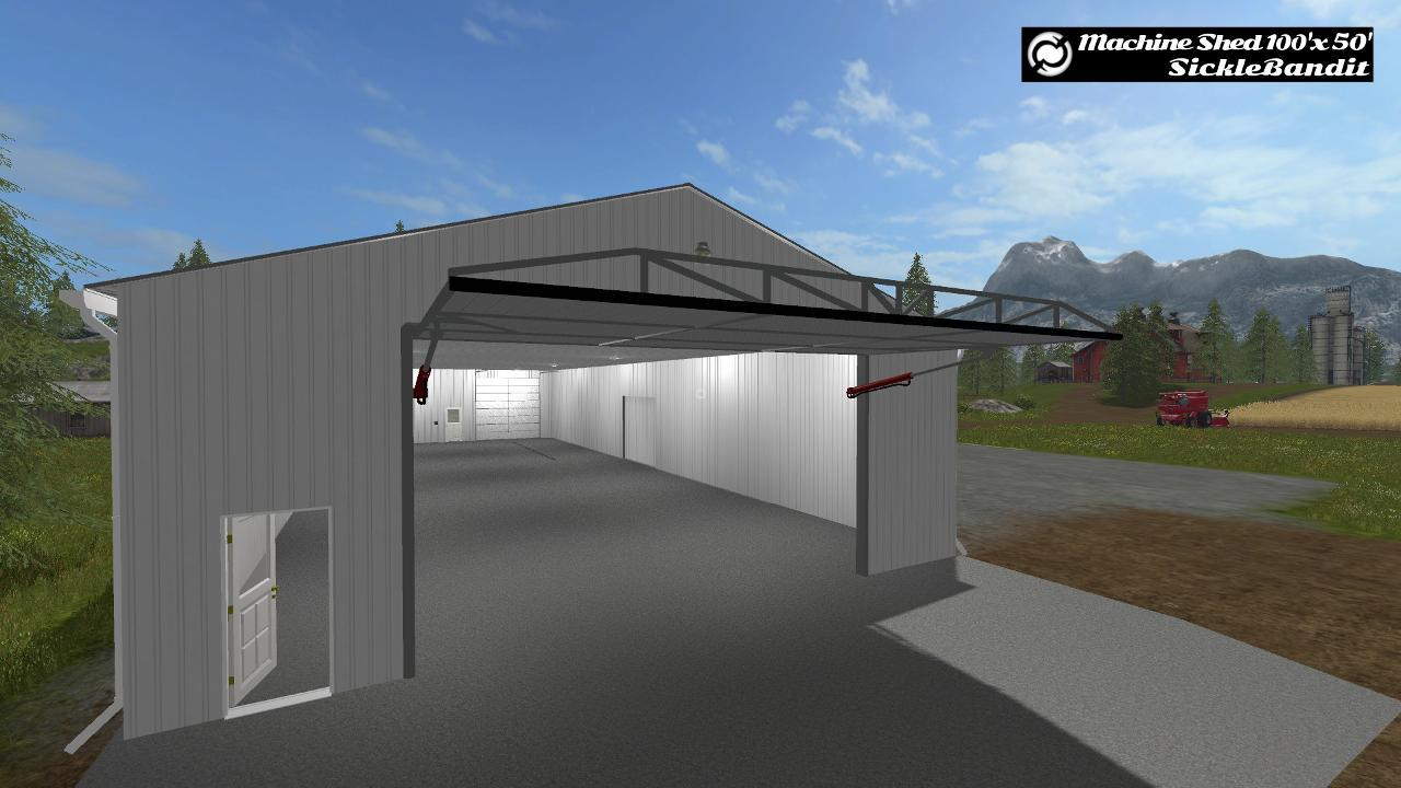 Machine shed 100x50 functional v1 0 for Equipment shed