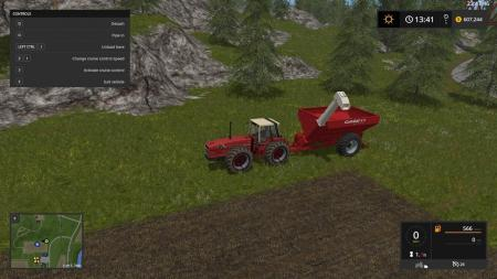 FS17 INTERNATIONAL HARVESTER 3588 AND GRAIN CART V1.0