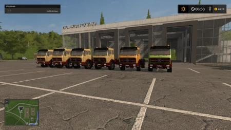 MERCEDES BENZ NG WITH TIPPING TRAILER V1
