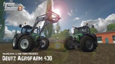 Deutz Fahr Agrofarm 430 mit FL V 1.5