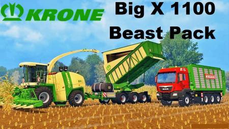 KRONE BIG X 1100 BEAST PACK V12.10 (BETA)