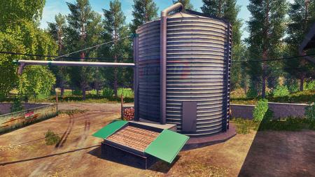 Grains Storage Silo Placeable