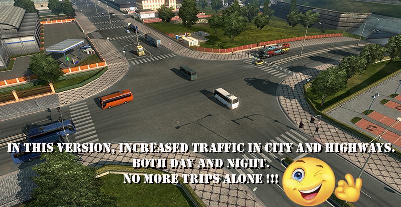 Realistic traffic 4 1 » GamesMods net - FS19, FS17, ETS 2 mods