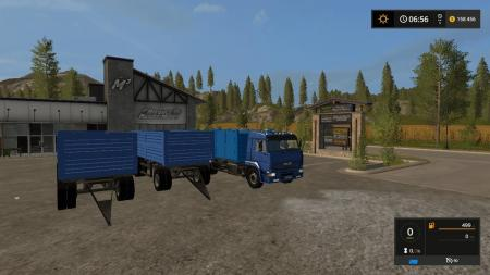 PACK KAMAZ 65117 AND 2 TRAILERS V1.6