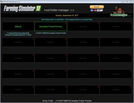 FREE FS17 MOD FOLDER MANAGER SOFTWARE V1.0
