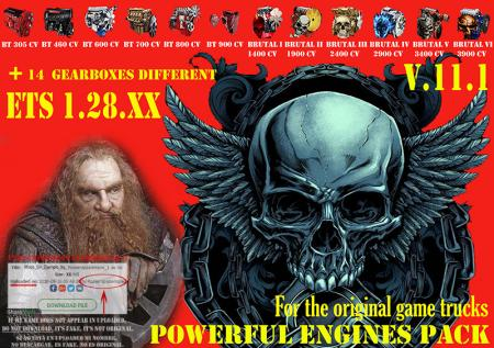 Pack Powerful engines + gearboxes V.11.1