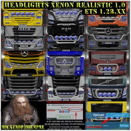 Headlights Xenon Realistic 1.0